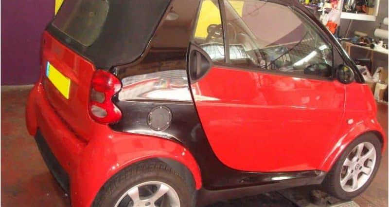 החלפת צבע הרכב לאדום