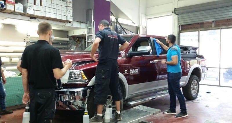 ציפוי לרכב Dodge נגד שריטות ואבנים
