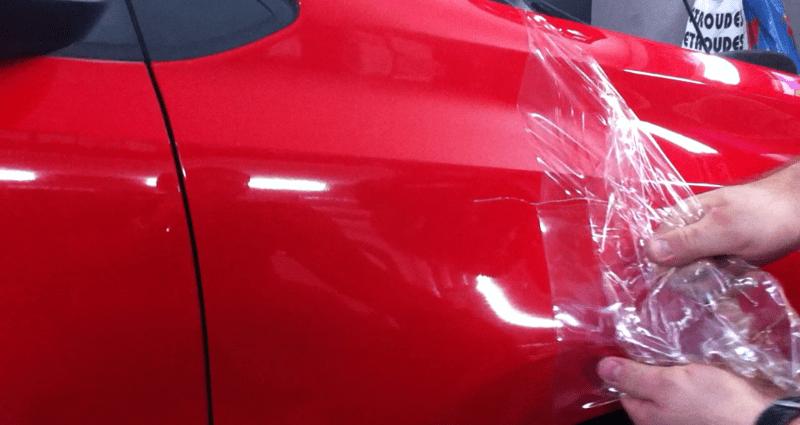 רכב לאחר טיפול להעלמת שריטות פח