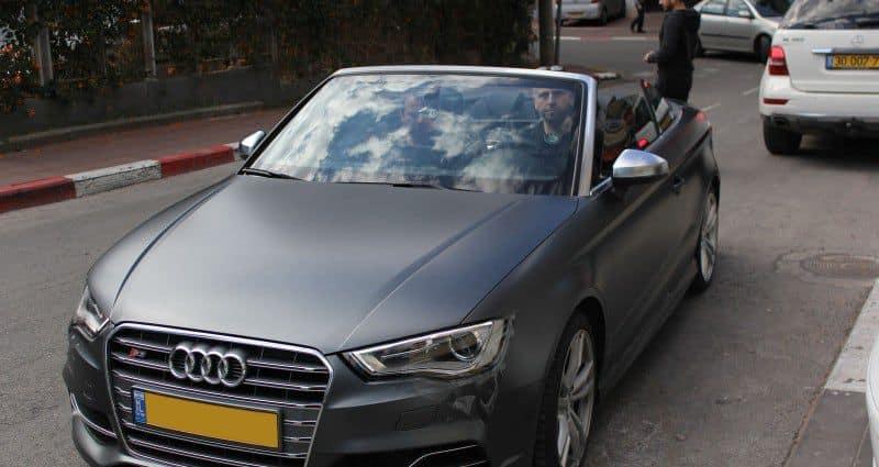 רכב אאודי לאחר ציפוי מט נגד שריטות - סאן פילם