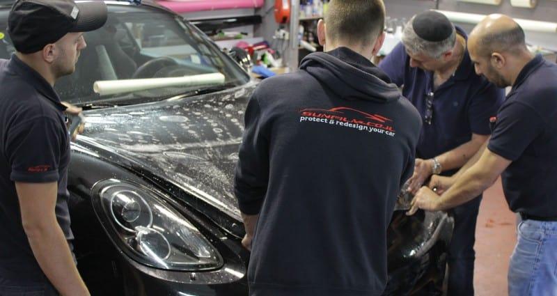 ציפוי מגן לרכב מפני שריטות ומכות לרכב פורשה